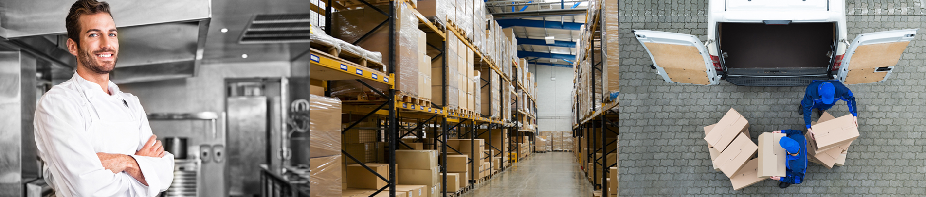 Restaurant Supply Unlimited's dedicated team delivering restaurant supplies to local chefs, from warehouse to chef.